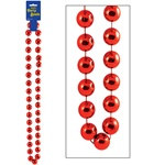 Red Jumbo Party Beads (1/pkg)