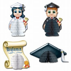 Graduation Playmates, 5in  (4/Pkg)