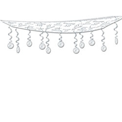 "25th Anniversary Ceiling Décor, 12""x12'  (1/Pkg)"