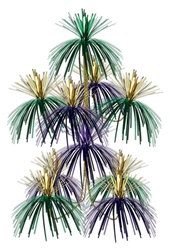 Green Gold Purple Firework Chandelier