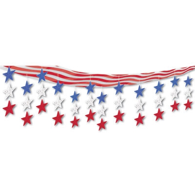 Stars And Stripes 3 D Sky Scape PartyCheap