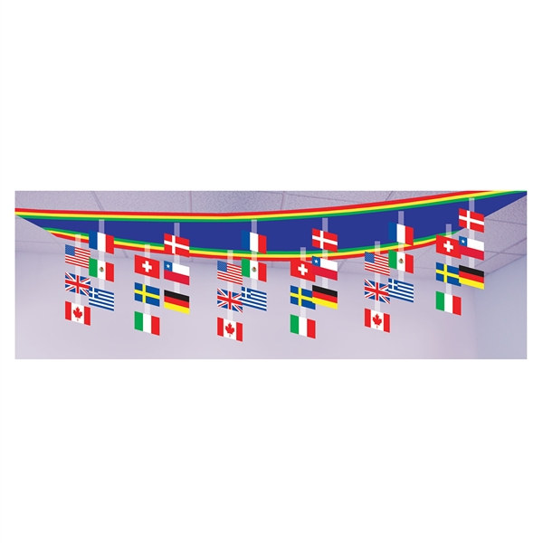 International flag ceiling decoration partycheap for International party decor