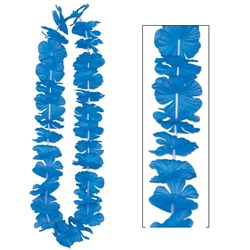 Blue Silk N Petals Party Lei (1/pkg)