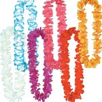 Assorted Silk N Petals Rainbow Leis (1/pkg)
