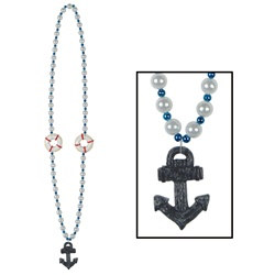 Cruise Beads with Anchor Medallion (1/pkg)