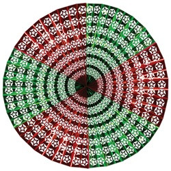 Red and Green Star Jumbo Display Fan