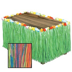 Multi-Color Artificial Grass Table Skirting