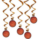 Basketball Whirls (5/pkg)