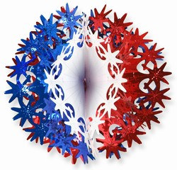 Red, White, and Blue Star Ball, 12 in