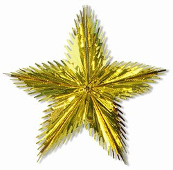 Gold Leaf Starburst, 16 in