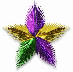 Gold, Green and Purple Leaf Starburst