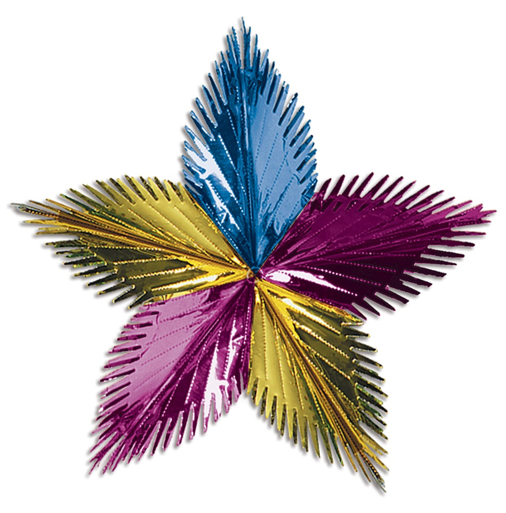 Pink gold and light blue leaf starburst partycheap