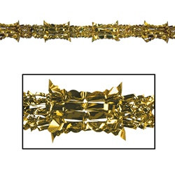 Gold Metallic Garland, 8 in