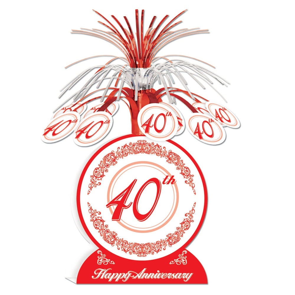 40th anniversary centerpiece partycheap for 40th wedding anniversary decoration ideas