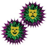 Mardi Gras Fan-Burst (1/pkg)