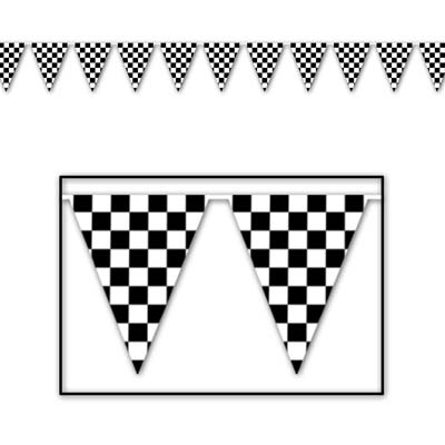 Checkered Flag Paper Checkered Flag Pennant