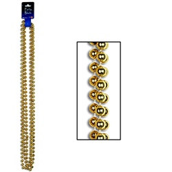 Gold Party Beads (3/pkg)