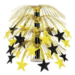 Black and Gold Star Cascade Centerpiece