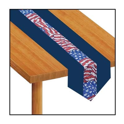 Stars and Stripes Fabric Table Runner