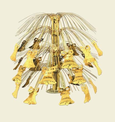 Gold bell cascade centerpiece partycheap