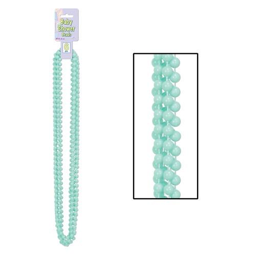 mint green baby shower beads 6 pkg partycheap