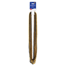 Black and Gold Party Beads (12/pkg)