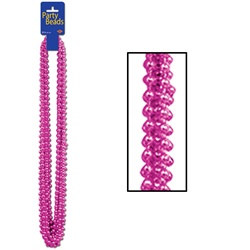 Cerise Party Beads