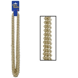 Gold Party Beads (12/pkg)