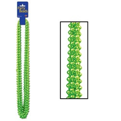Lime Green Party Beads