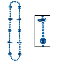 Blue Soccer Beads (1/pkg)