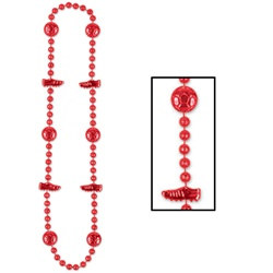 Red Soccer Beads (1/pkg)