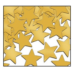 Gold Fanci-Fetti Stars (1 ounce/pkg)