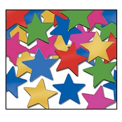 Multi-Color Fanci-Fetti Stars (1 ounce/pkg)