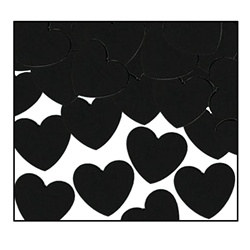 Black Fanci-Fetti Hearts (1oz/pkg)