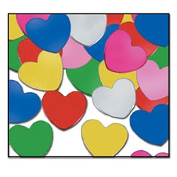 Multi-Color Fanci-Fetti Hearts (1oz/pkg)