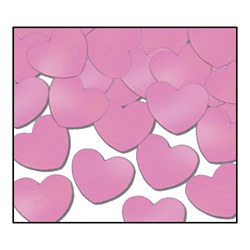 Pink Fanci-Fetti Hearts (1oz/pkg)
