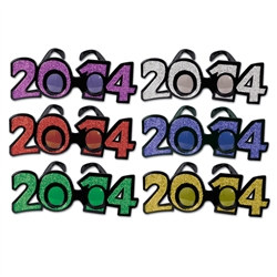 2014 Glittered Eyeglasses (1/Pkg)
