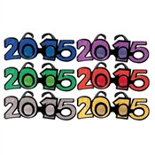 2015 Glittered Plastic Eyeglasses (1 PER PACKAGE)(Assorted Colors)