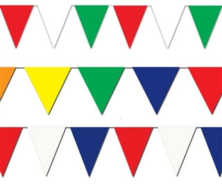 Outdoor Pennant Banner, 120 ft (Choose Color)