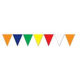 Multi-Color Outdoor Pennant Banner