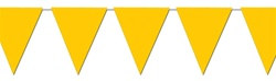 Yellow Indoor/Outdoor Pennant Banner, 12 ft