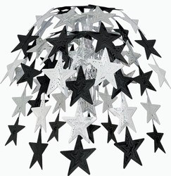 Black and Silver  Star Cascade