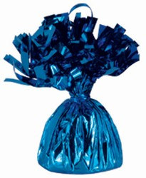 Blue Metallic Wrapped Balloon Weight, 6 Ounces