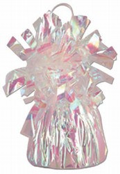 Opalescent Metallic Wrapped Balloon Weight, 6 ounces (1/pkg)
