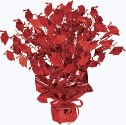 Red Graduate Cap Gleam N Burst Centerpiece