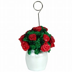 Rose Bouquet Polystone Photo/Balloon Holder