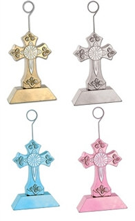 Cross Photo/Balloon Holder (Choose Color)