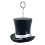 Black and Silver Top Hat Photo/Balloon Holder
