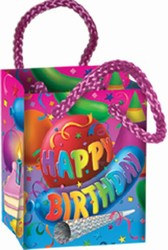 Happy Birthday Mini Party Favor Bags (4/Pkg)