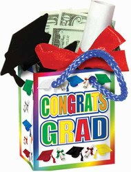 Congrats Grad Mini Gift Bag Party Favors (4/Pkg)